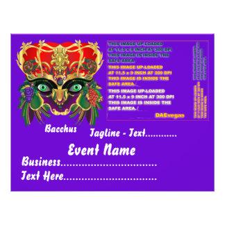 Mardi Gras Mythology Bacchus View Hints Please Flyer