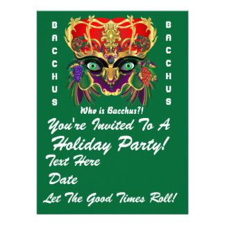 Mardi Gras Mythology Bacchus View Hints Please Personalized Invitation