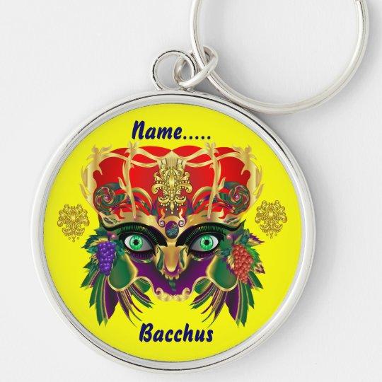 Mardi Gras Mythology Bacchus View Hints Please Keychain