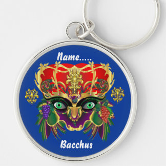 Mardi Gras Mythology Bacchus View Hints Please Keychain