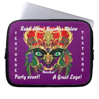 Mardi Gras Mythology Bacchus View Hints Please Laptop Sleeve