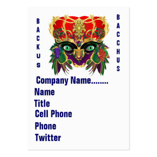 Mardi Gras Mythology Bacchus View Hints Please Large Business Card