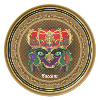Mardi Gras Mythology Bacchus View Hints Please Melamine Plate