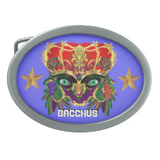 Mardi Gras Mythology Bacchus View Hints Please Oval Belt Buckle