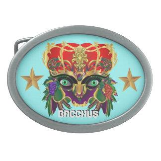 Mardi Gras Mythology Bacchus View Hints Please Oval Belt Buckle