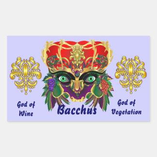 Mardi Gras Mythology Bacchus View Hints Please Rectangular Sticker