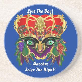 Mardi Gras Mythology Bacchus View Hints Please Sandstone Coaster