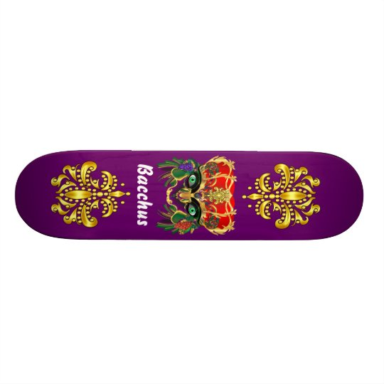 Mardi Gras Mythology Bacchus View Hints Please Skateboard Deck