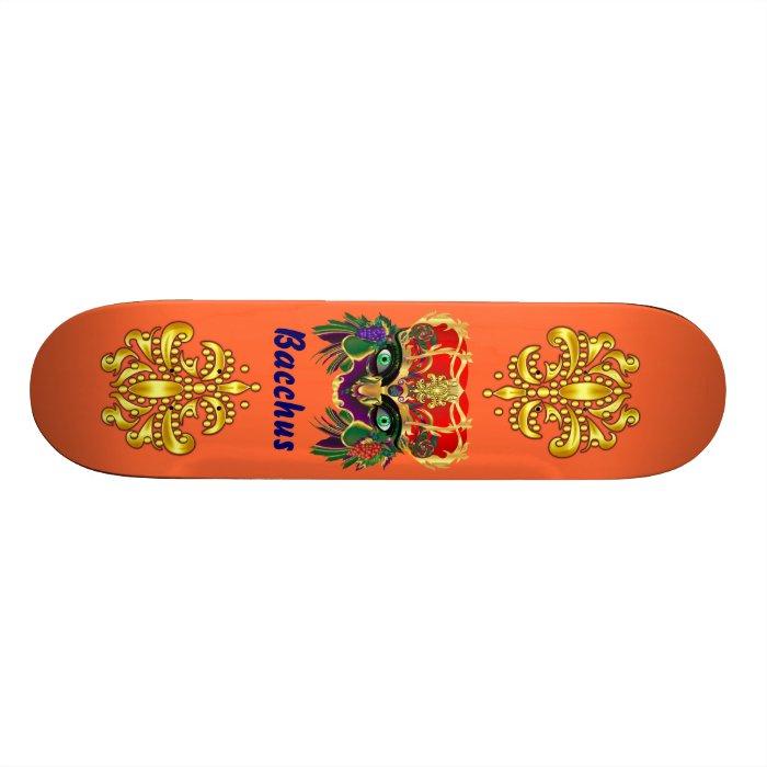 Mardi Gras Mythology Bacchus View Hints Please Skateboard Deck