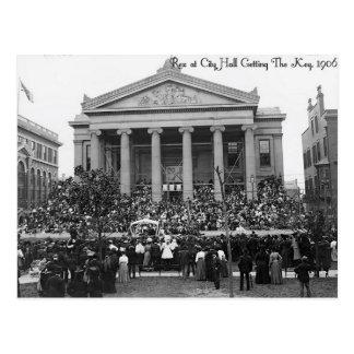 Mardi Gras New Orleans 1906, Rex Gets The Key Postcard