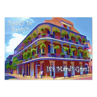 Mardi Gras New Orleans Historic Street Card