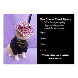 Mardi Gras, New Orleans, Rio de Janeiro Business Card Template