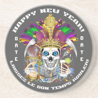 Mardi Gras New Year Customize View Notes Please Coasters