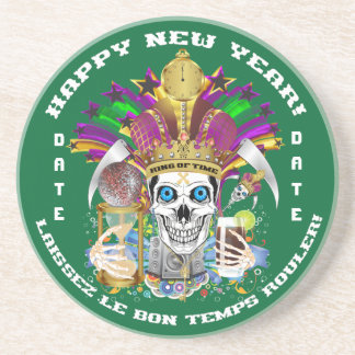 Mardi Gras New Year Customize View Notes Please Coaster