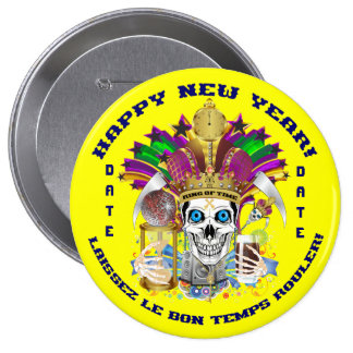 Mardi Gras New Year Customize View Notes Please Pinback Button