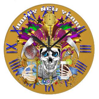 Mardi Gras New Year's Clock View Hints Please