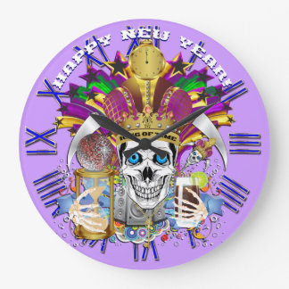 Mardi Gras New Year's Clock View Hints Please