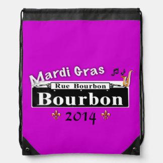 Mardi Gras on Bourbon (Customize date) Drawstring Bag