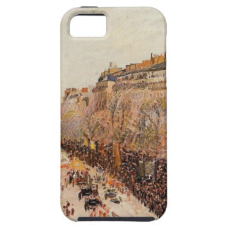 Mardi Gras on the Boulevards by Camille Pissarro iPhone SE/5/5s Case