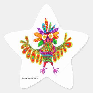 Mardi Gras Owl Sam Sticker