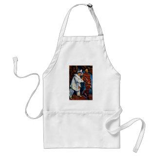 Mardi Gras painting by Paul Cezanne classic art Adult Apron