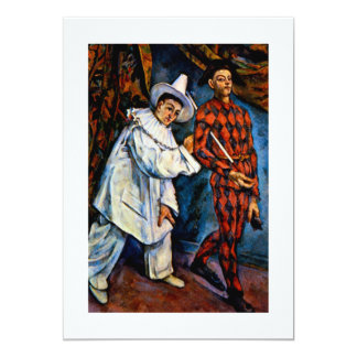 Mardi Gras painting by Paul Cezanne classic art Card