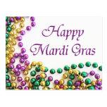 Mardi Gras Parade Beads Postcard