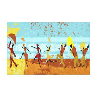 Mardi Gras Parade on Wrapped Canvas