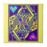 Mardi Gras Parade Queen by Sharles Small Square Tile
