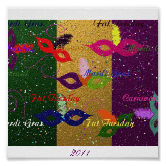 Mardi Gras Party, 2011 Poster