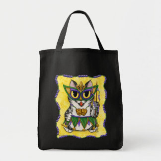 Mardi Gras Party Cat New Orleans Fantasy Art Bag