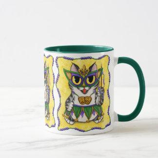 Mardi Gras Party Cat New Orleans Fantasy Art Mug