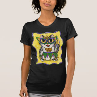 Mardi Gras Party Cat New Orleans Fantasy Art Shirt