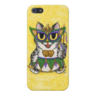 Mardi Gras Party Cat New Orleans iPhone Case