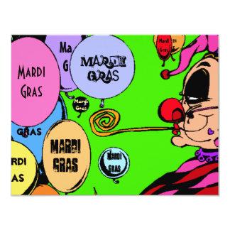 Mardi Gras Party Celebration Harlequin Invitations