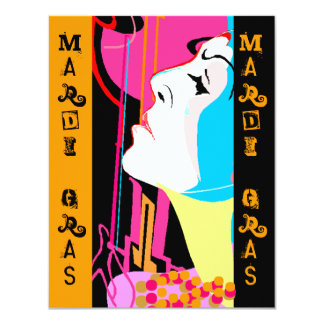 Mardi Gras Party Celebration Jazz Party Invites