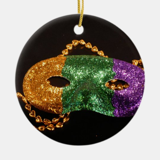 Mardi Gras party Ceramic Ornament
