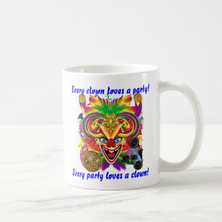 Mardi Gras Party Clown View Hints Please Coffee Mug