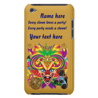 Mardi Gras Party Clown View Hints Please iPod Touch Case-Mate Case