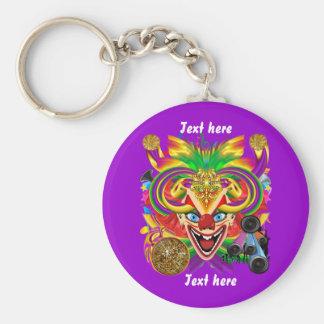 Mardi Gras Party Clown View Hints Please Keychain