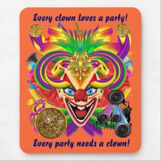 Mardi Gras Party Clown View Hints Please Mouse Pad