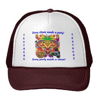 Mardi Gras Party Clown View Hints Please Trucker Hat