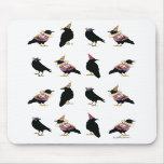 Mardi Gras Party Crows Mouse Mat Mousepad