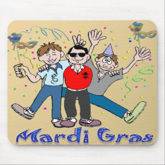 Mardi Gras Party Guys Mouse Pad