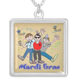 Mardi Gras Party Guys Necklace
