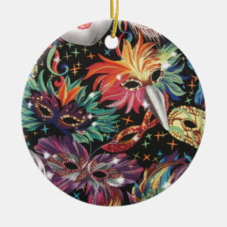 Mardi Gras Party Christmas Ornaments