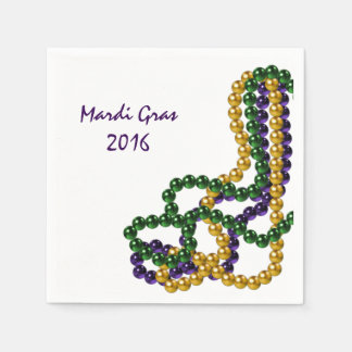 Mardi Gras Party Purple Gold and Green Paper Napkin