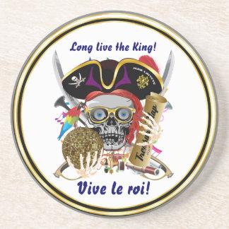 Mardi Gras Party Theme Pirate King Plse View Notes Beverage Coasters