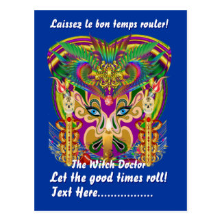Mardi Gras Party Theme  Please View Hints Postcard