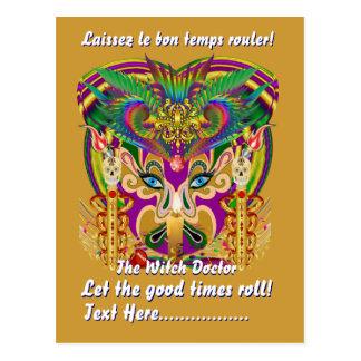 Mardi Gras Party Theme  Please View Hints Post Card